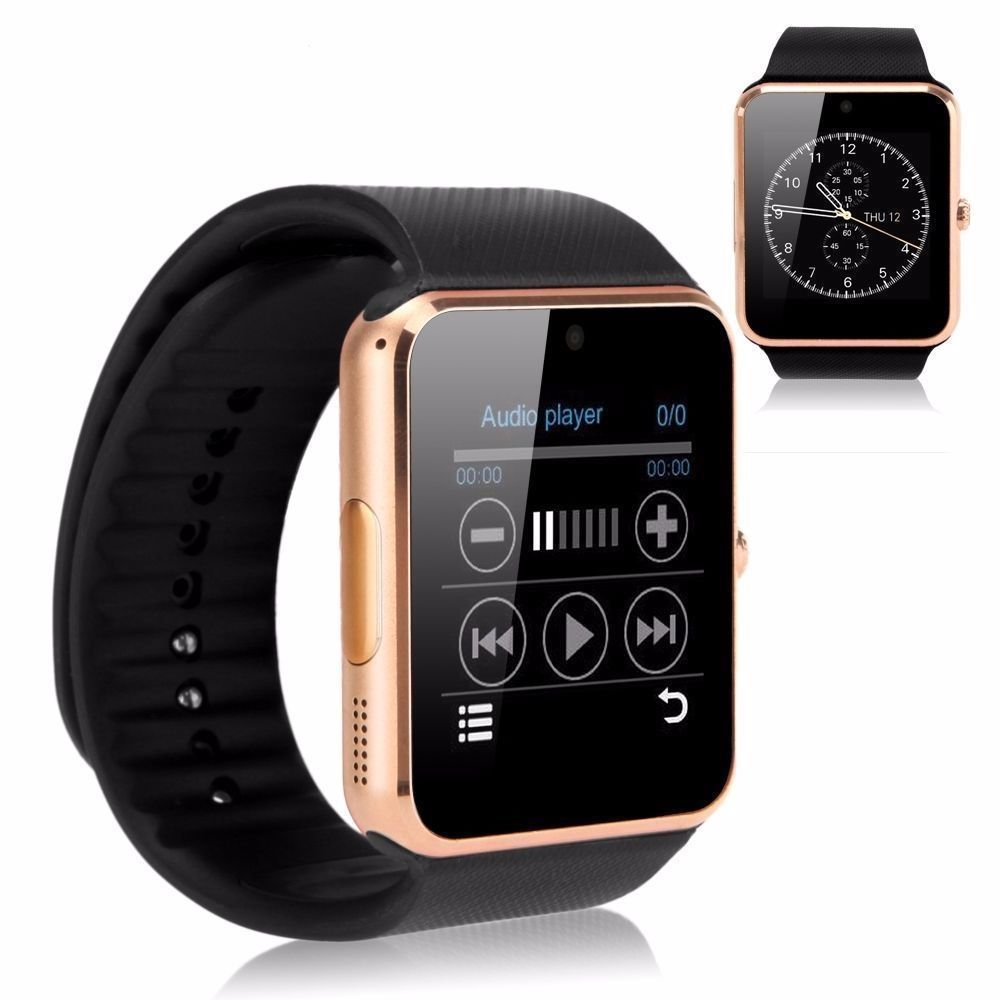 GT08 Bluetooth Smart Watch NFC Wrist Phone Mate For iPhone Andorid 力のアダプター